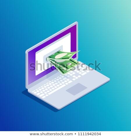 Bitcoin cash laptop scherm 3D dynamica Stockfoto © tashatuvango