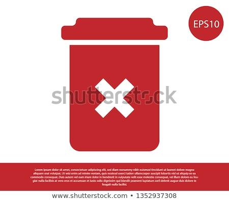 красный мусорный ящик белый Сток-фото © devon