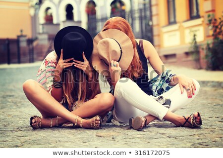 Fashion style photo of boho style girl. Stock photo © NeonShot