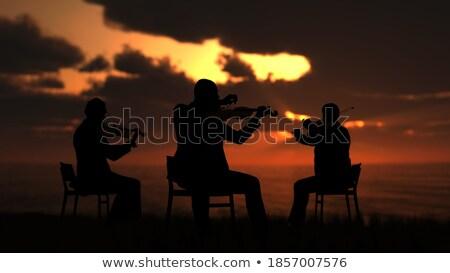 симфония рассвета Восход Гора Фудзи старые Сток-фото © craig
