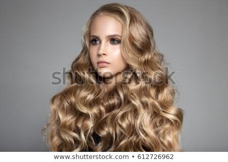 Mulher magnífico cabelo retro Foto stock © studiostoks