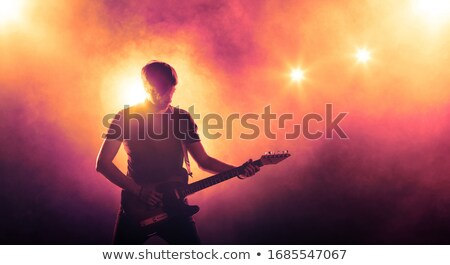 Stock photo: Electric guitar and guitar amplifier