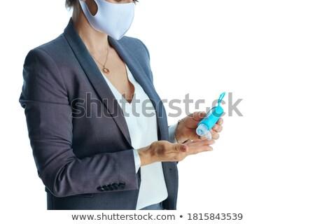 gray suit business womenalcohol stock photo © toyotoyo