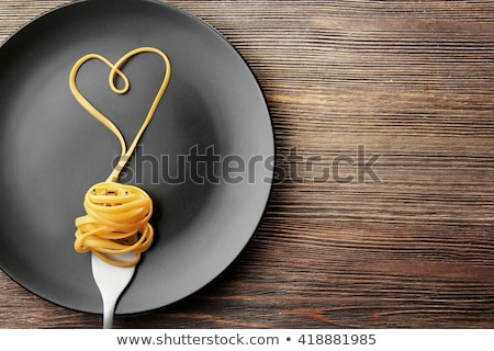 Heart shape made of pasta Stock photo © dash