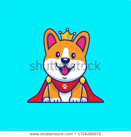 Rajz mosolyog herceg kutyakölyök korona Stock fotó © cthoman