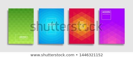 red rhombus shape halftone background Stock photo © SArts
