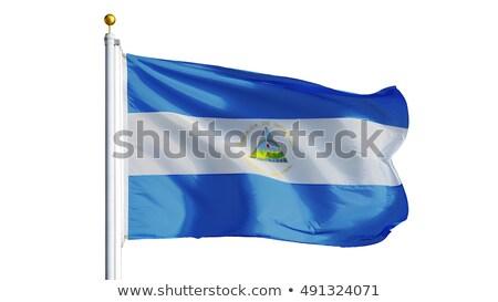 Nicarágua bandeira isolado branco tridimensional tornar Foto stock © daboost