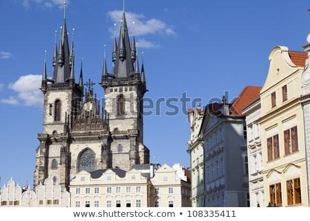Templo Praga catedral nascer do sol edifício cidade Foto stock © Givaga
