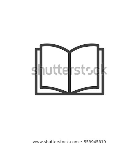 nyitott · könyv · ikon · gyűjtemény · vektor · iroda · könyv · terv - stock fotó © blaskorizov