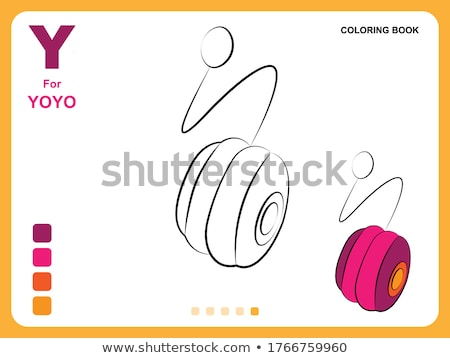 y is for educational game coloring book stock photo © izakowski