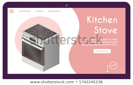 huisvrouw · pot · grappig · cartoon · vector · karakter - stockfoto © rastudio