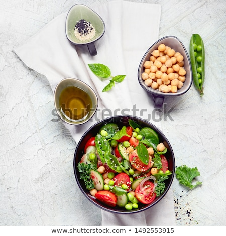 fresh chickpeas salad stock photo © yuliyagontar