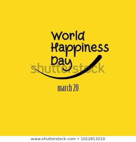 komik · yüzü · metin · uluslararası · gün · mutluluk · çift - stok fotoğraf © nito