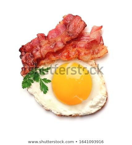 panela · frito · bacon · tiras · frigideira - foto stock © grafvision