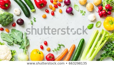 Fresh green wet zucchini. Stock photo © marylooo