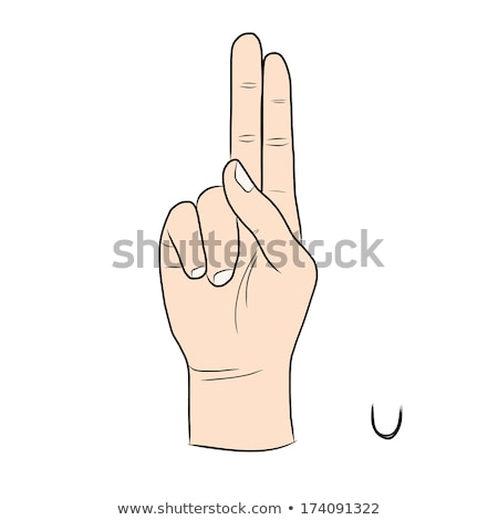 hand demonstrating, 'U' in the alphabet of signs  stock photo © vladacanon