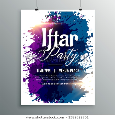 iftar party watercolor ink invitation template Stock photo © SArts