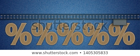 jeans · verkoop · procent · label · ingesteld · korting - stockfoto © limbi007