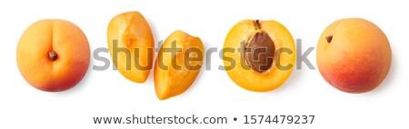 melocotón · todo · frutas · aislado · amor · sexy - foto stock © netkov1