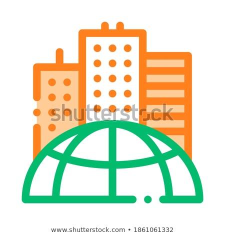 Rascacielos tierra problema vector delgado línea Foto stock © pikepicture
