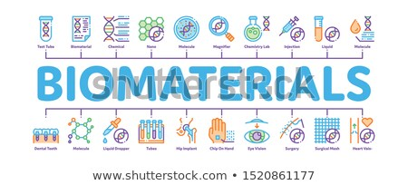 Biomaterials Minimal Infographic Banner Vector Stock photo © pikepicture