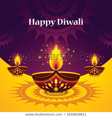 happy diwali red sale decorative banner design Stock photo © SArts