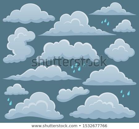 felhős · égbolt · természet · terv · művészet · felhő - stock fotó © clairev