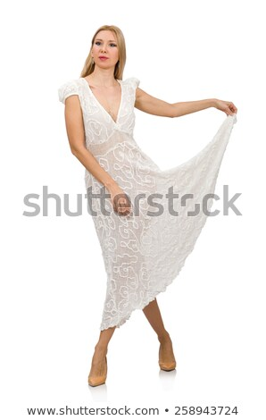 Pretty Woman Dancer in White Shirt and Short Skirt Stock photo © robuart