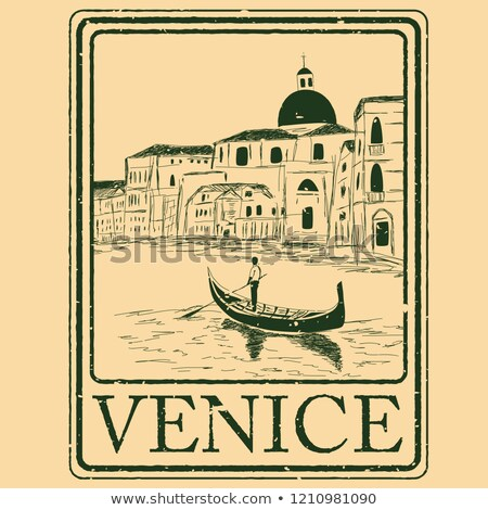 Gondolas with gondoliers in Venice Stock photo © artjazz
