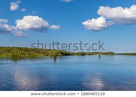 Landschap rivier Rusland witte kanaal water Stockfoto © borisb17
