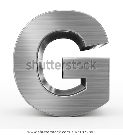 Brushed metal font Letter G 3D Stock photo © djmilic