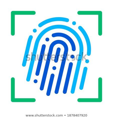 Empreintes scanner vecteur signe icône léger Photo stock © pikepicture