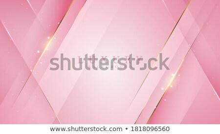 élégante carte de visite design courbe affaires Photo stock © SArts