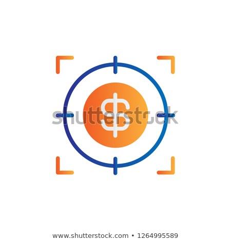 Mesterlövész célkereszt ikon stock izolált fehér Stock fotó © kyryloff