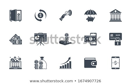 mobile account replenishment icon vector outline illustration Stock photo © pikepicture