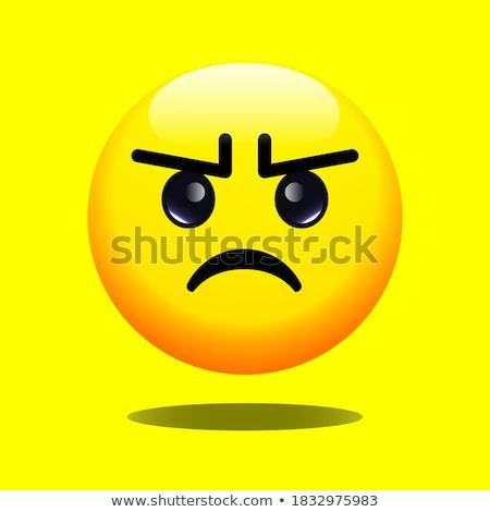Sad, somber emoji illustration Stock photo © barsrsind