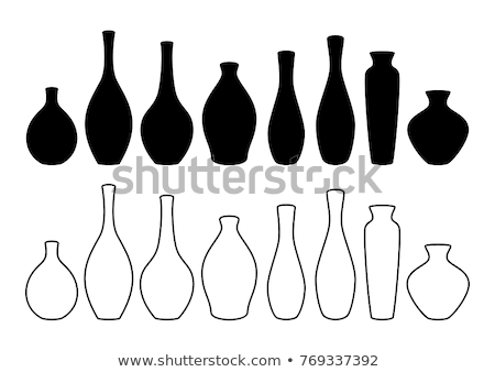 Vase set. Various forms of vases. Home interior decoration. Stock photo © netkov1