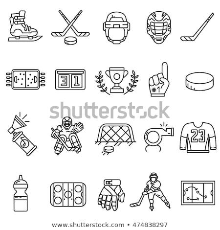 hockey icon set Stock photo © ayaxmr