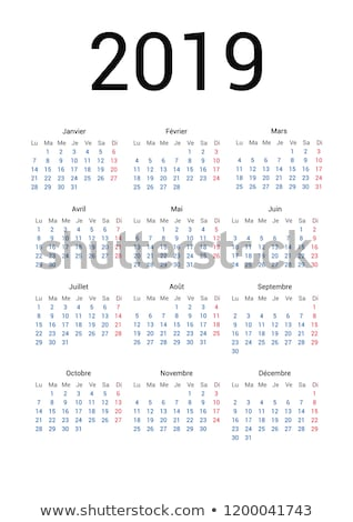 Simple calendar on may 2019 year with week starting from monday isolated on white Stock photo © evgeny89