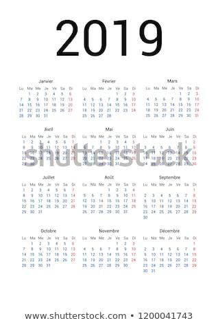 Eenvoudige kalender jaar week geïsoleerd witte Stockfoto © evgeny89