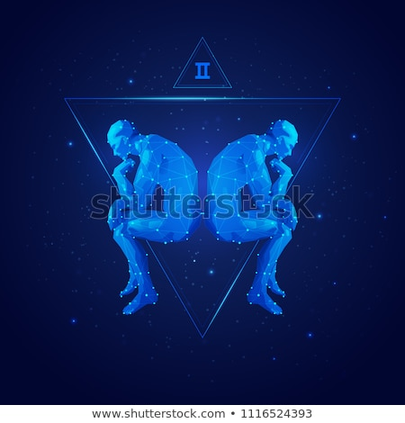 Сток-фото: Twins Astrology Zodiac Gemini Horoscope Vector