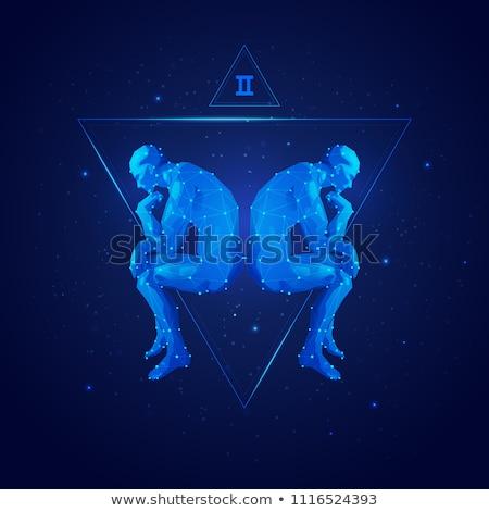 Twins Astrology Zodiac Gemini Horoscope Vector Stock photo © robuart