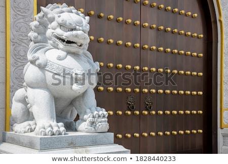伝統的な 中国語 石 ライオン 著作権 ストックフォト © Ansonstock