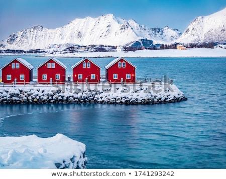 Noors winter eilanden Noorwegen hemel zonsondergang Stockfoto © dmitry_rukhlenko
