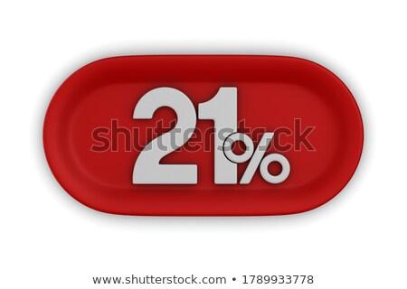кнопки двадцать процент белый изолированный 3D Сток-фото © ISerg