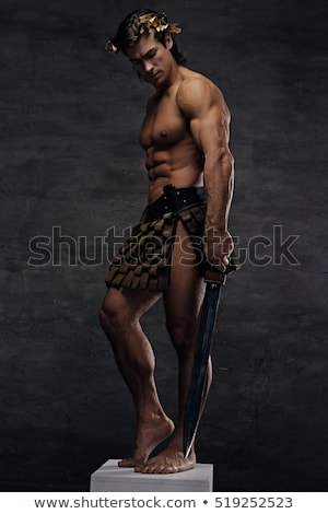 Estudio espada retrato guapo muscular Foto stock © Jasminko