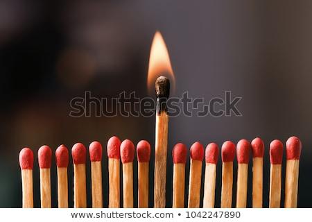 сжигание · матча · черный · дизайна · огня · древесины - Сток-фото © johnkwan