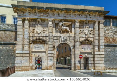 the land gate to the old city of zadar stock photo © rognar