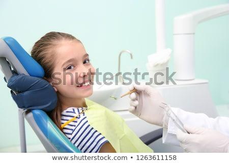 Little girl cirurgia dentária criança saúde hospital medicina Foto stock © Paha_L