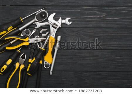 Velho serralheiro ferramentas escuro enferrujado Foto stock © pekour